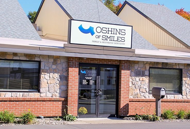 Oustide view of Oshins of Smiles dental office building